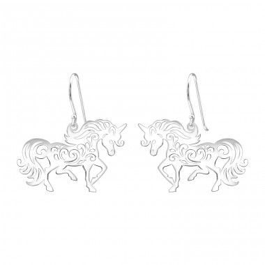 Unicorn - 925 Sterling Silver Basic Earrings A4S39211