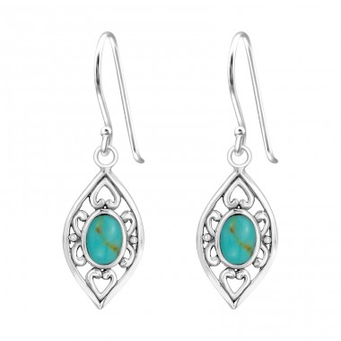 Marquise - 925 Sterling Silver Basic Earrings A4S39430