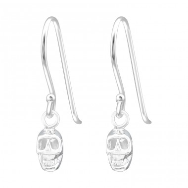 Skull - 925 Sterling Silver Basic Earrings A4S39881