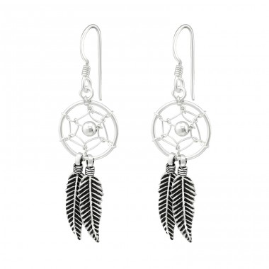 Dreamcatcher - 925 Sterling Silver Basic Earrings A4S39907