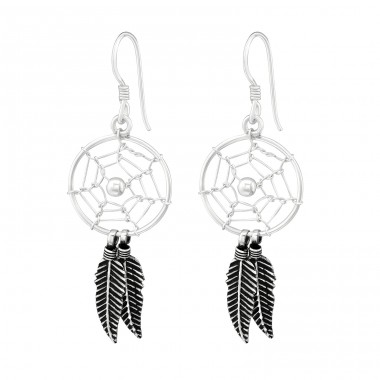 Dreamcatcher - 925 Sterling Silver Basic Earrings A4S39908
