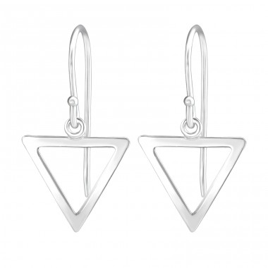 Triangle Dangle - 925 Sterling Silver Basic Earrings A4S40684