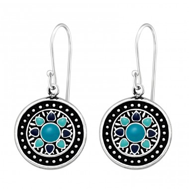 Ethnic - 925 Sterling Silver Basic Earrings A4S41039