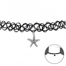 Starfish - Plastic + 925 Sterling Silver Chokers necklace A4S32952