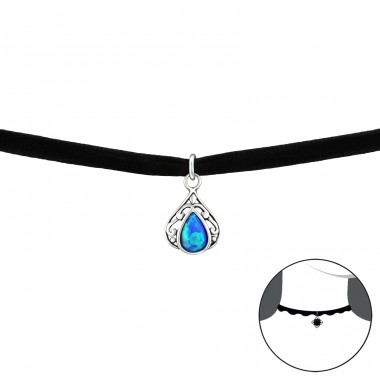 Slza - Striebro 925 +  Chokers A4S34059