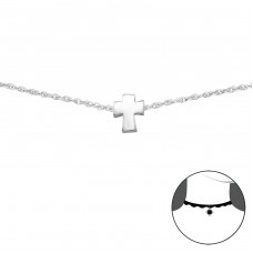 Kríž - Striebro 925 Chokers A4S34692