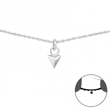 Triangle - 925 Sterling Silver Chokers necklace A4S34695