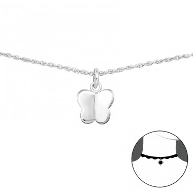 Butterfly - 925 Sterling Silver Chokers necklace A4S34705
