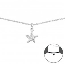 Starfish - 925 Sterling Silver Chokers necklace A4S34707