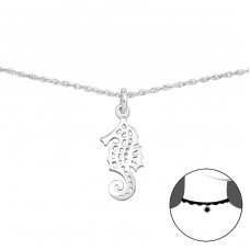 Seahorse - 925 Sterling Silver Chokers necklace A4S34724