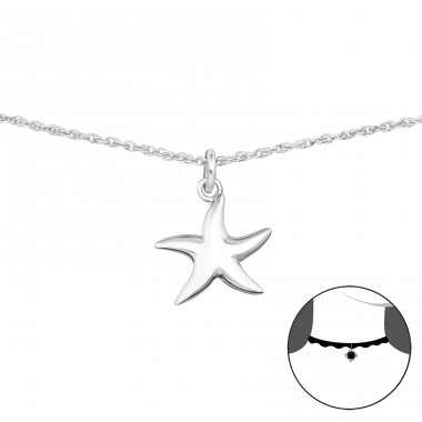 Starfish - 925 Sterling Silver Chokers necklace A4S34725