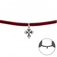 Kríž - Striebro 925 +  Chokers A4S34728