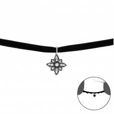 Antique - 925 Sterling Silver Chokers necklace A4S37994
