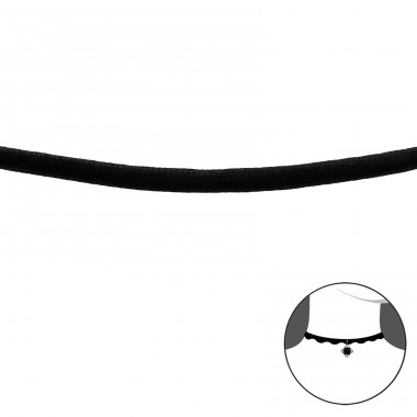 Velvet Choker - 925 Sterling Silver + Velvet Chokers necklace A4S38876