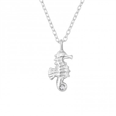 Sea Horse - 925 Sterling Silver Necklace with stones A4S24884