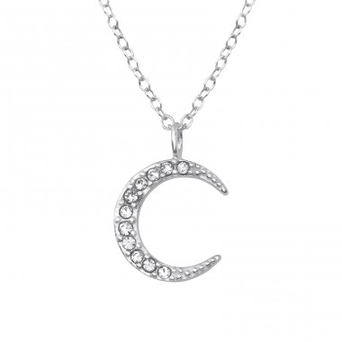 Moon - 925 Sterling Silver Necklace with stones A4S35448