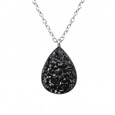 Pear - 925 Sterling Silver Necklace with stones A4S36661