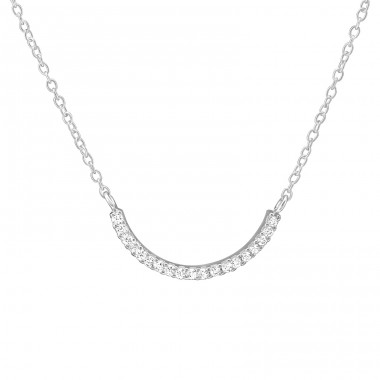 Curve - 925 Sterling Silver Necklace with stones A4S36816