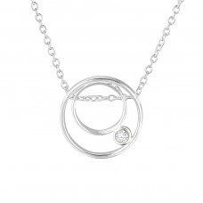 Round - 925 Sterling Silver Necklace with stones A4S36818