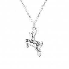 Constellation - 925 Sterling Silver Necklace with stones A4S36827