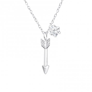 Arrow - 925 Sterling Silver Necklace with stones A4S36839