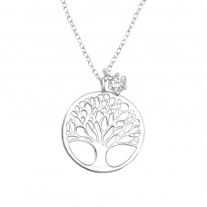 Tree Of Life - 925 Sterling Silver Necklace with stones A4S36841