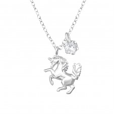 Unicorn - 925 Sterling Silver Necklace with stones A4S36843