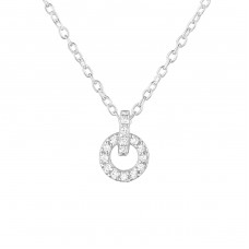Round - 925 Sterling Silver Necklace with stones A4S36849