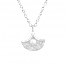 Shell - 925 Sterling Silver Necklace with stones A4S37561