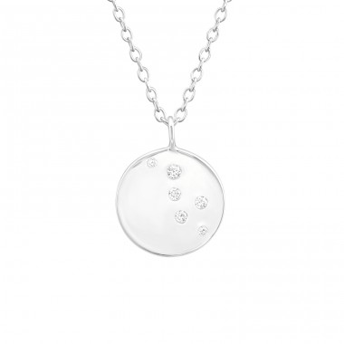 Round - 925 Sterling Silver Necklace with stones A4S37676