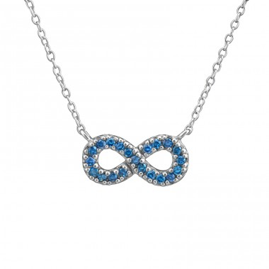 Infinity Inline - 925 Sterling Silver Necklace with stones A4S37814