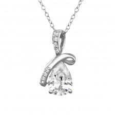 Sparkling - 925 Sterling Silver Necklace with stones A4S37996