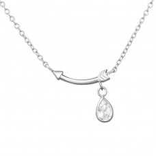 Arrow - 925 Sterling Silver Necklace with stones A4S38053
