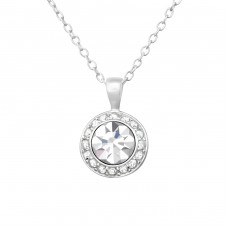 Sparkling - 925 Sterling Silver Necklace with stones A4S38186