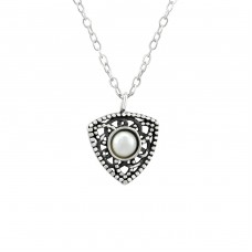 Antique - 925 Sterling Silver Necklace with stones A4S38440