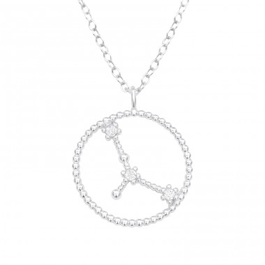Cancer Zodiac Sign - 925 Sterling Silver Necklace with stones A4S38841