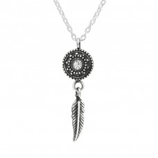 Ethnic - 925 Sterling Silver Necklace with stones A4S39178