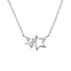 Star - 925 Sterling Silver Necklace with stones A4S39183