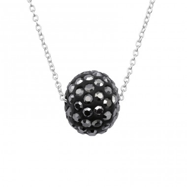 Ball - 925 Sterling Silver Necklace with stones A4S39734