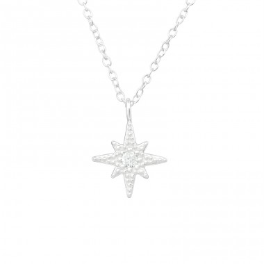 Northern Star - 925 Sterling Silver Necklace With Stones A4S39890