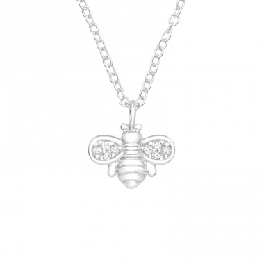 Bee - 925 Sterling Silver Necklace with stones A4S40231