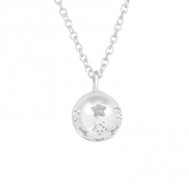 Star - 925 Sterling Silver Necklace with stones A4S40418