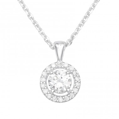 Sparkling - 925 Sterling Silver Necklace with stones A4S41183