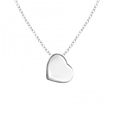Heart - 925 Sterling Silver Necklace without stones A4S17046