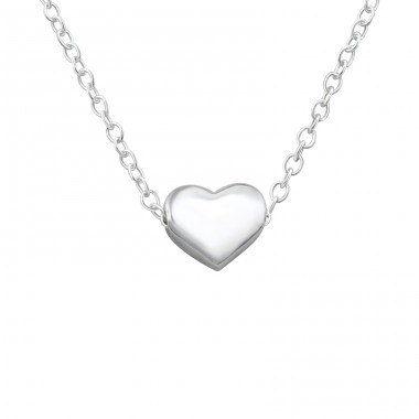 Heart - 925 Sterling Silver Necklace without stones A4S17452