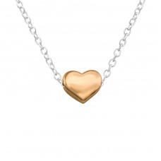 Heart - 925 Sterling Silver Necklace without stones A4S17454