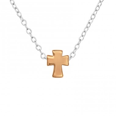 Cross - 925 Sterling Silver Necklace without stones A4S17728