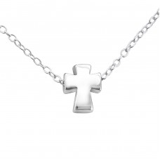 Cross - 925 Sterling Silver Necklace without stones A4S17739