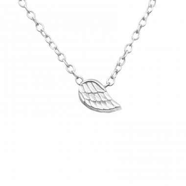 Wing - 925 Sterling Silver Necklace without stones A4S17740