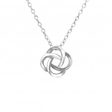 Knot - 925 Sterling Silver Necklace without stones A4S19122
